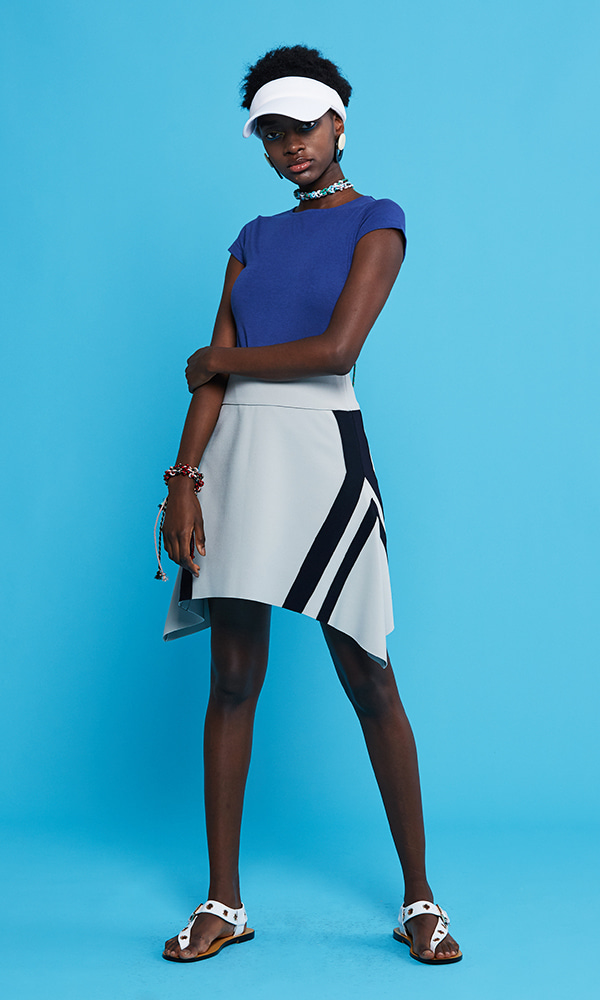 RZ-Double Stripe A Skirt