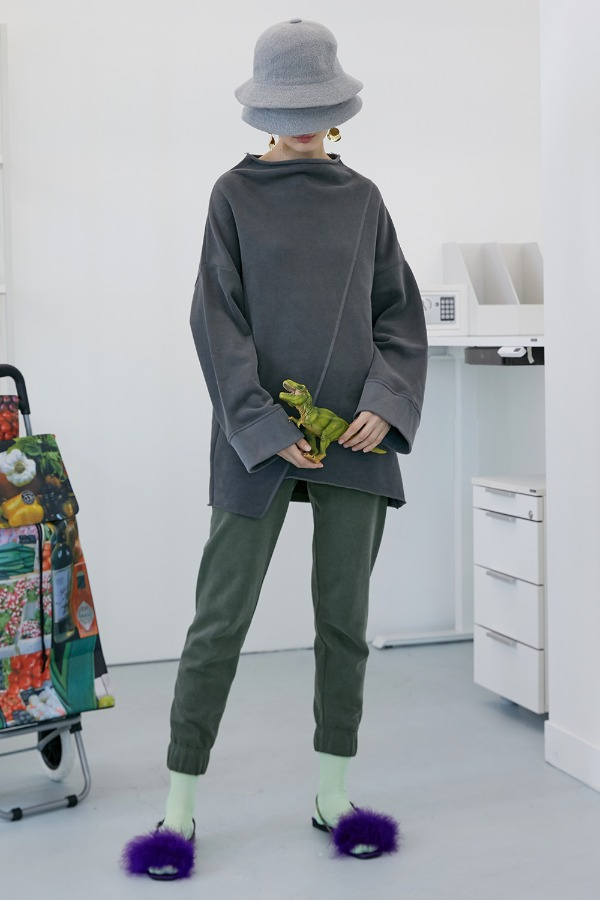 Palm Slim Lounge Pants_Vintage Green