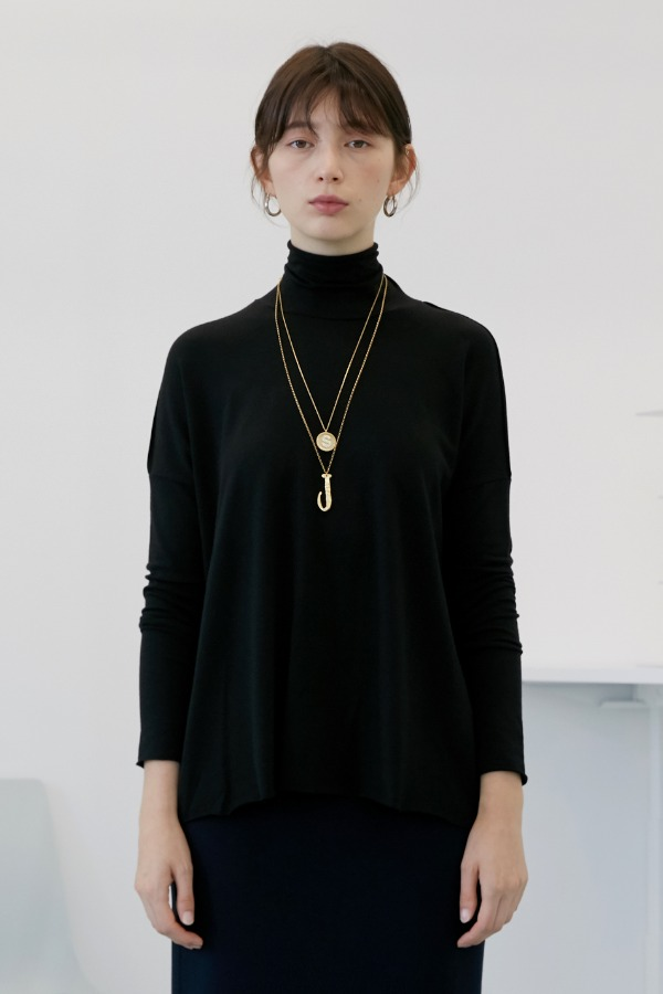 A-Box Basic Turtleneck_Black , Ivory (3차 리오더)