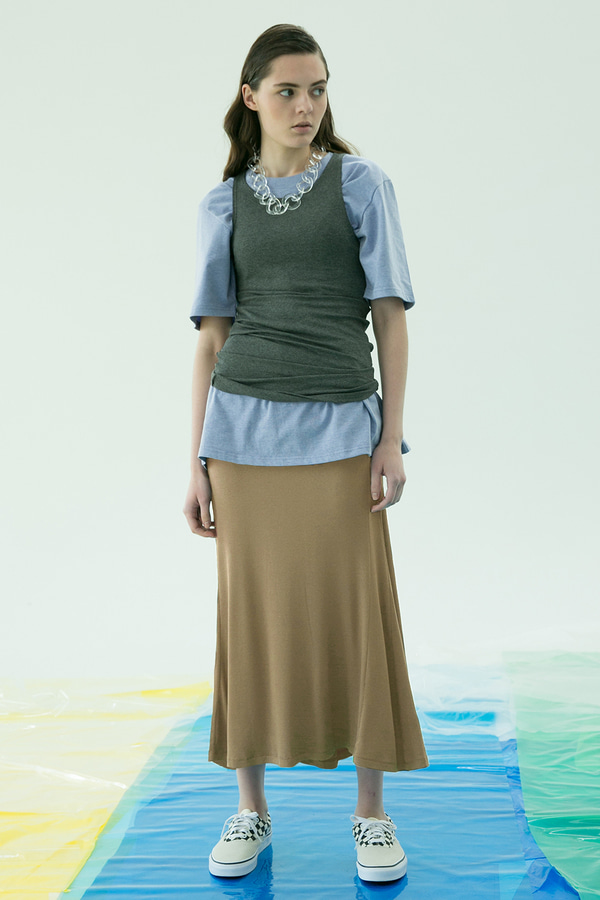 Giselle Jersey Long Skirt_Beige