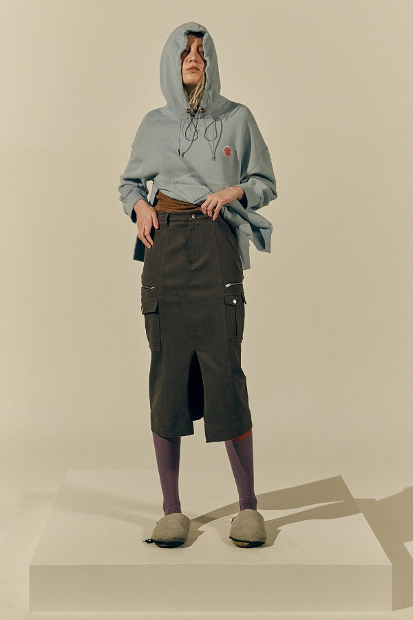 Tidy Cargo Skirt_Brown (1차 리오더)