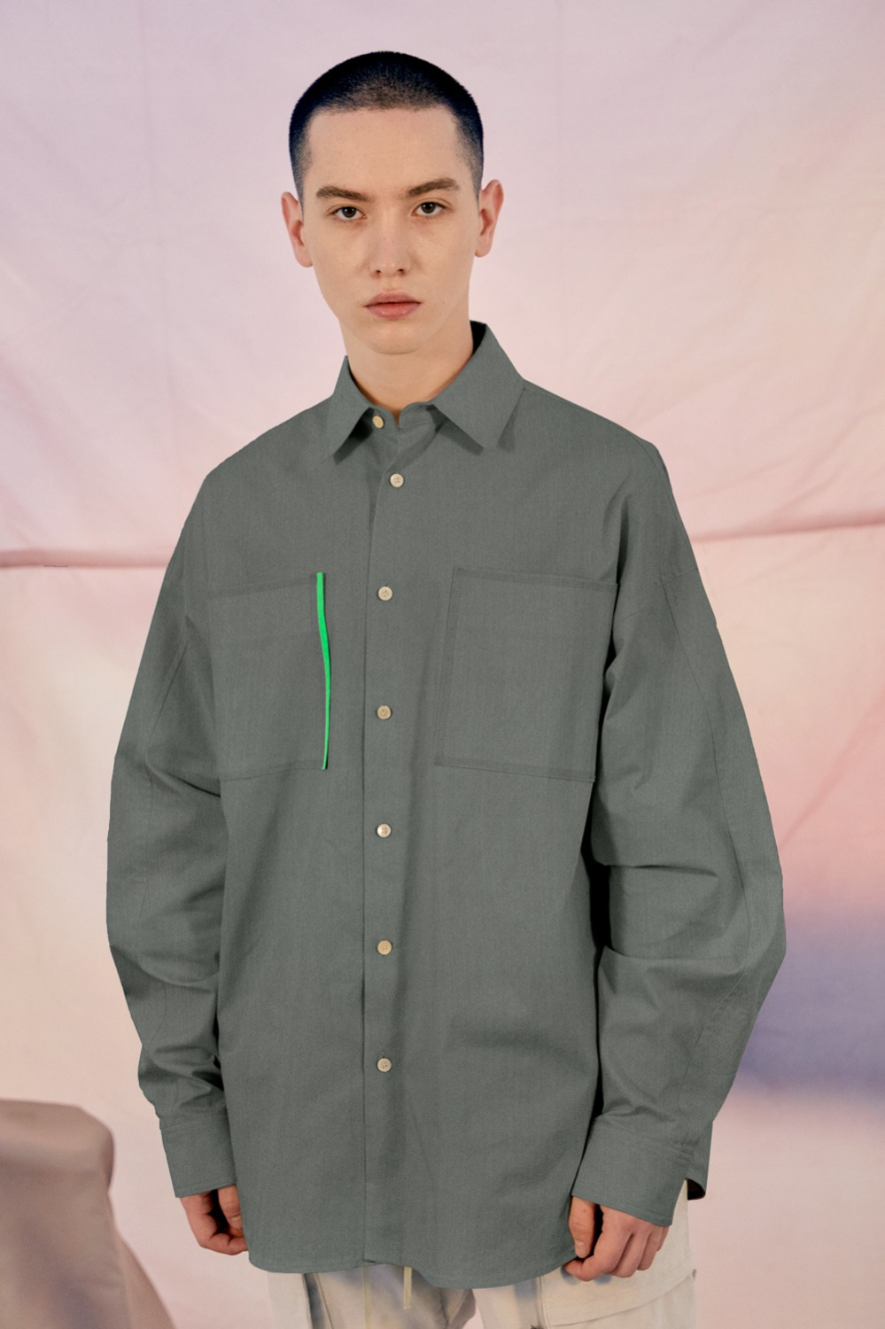 Week Oversized Shirt_Light Indigo