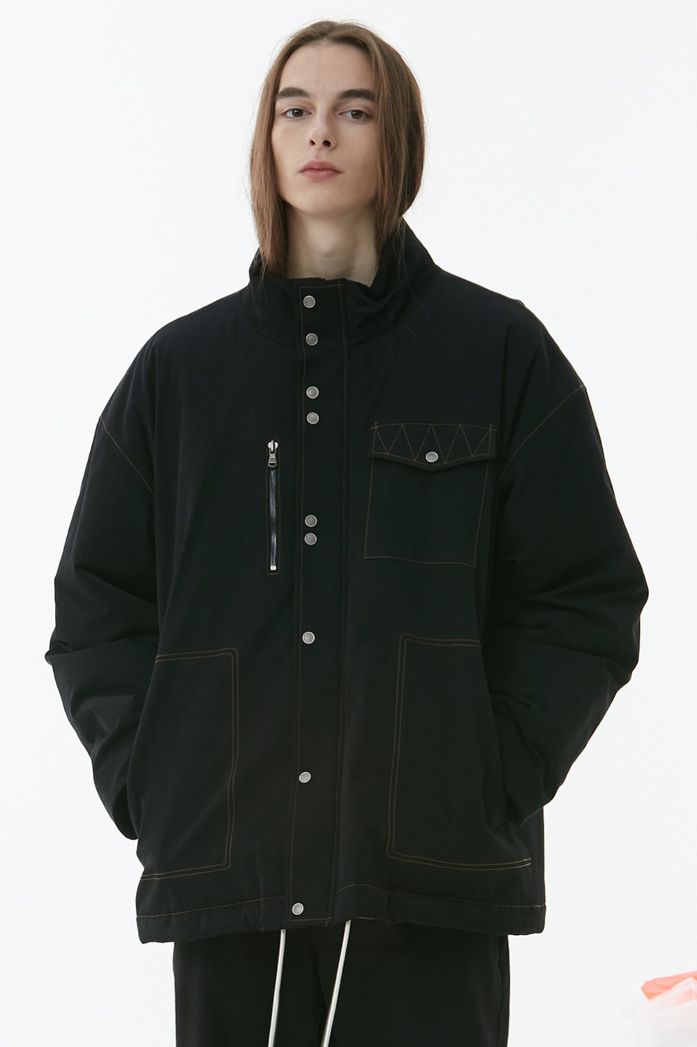 Decal Puffer Jacket_Black