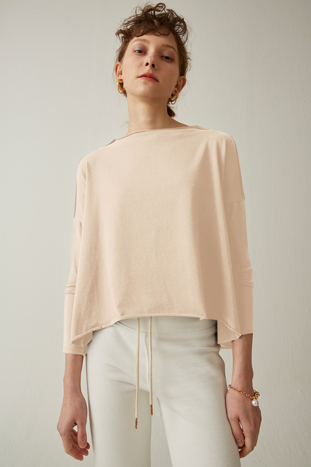 Bonn Color Wide Tee_Ivory