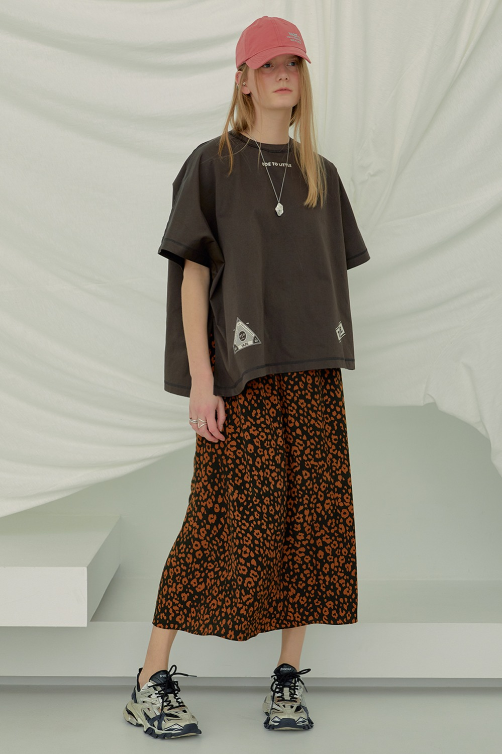 [Exclusive] Relaxed Leopard Skirt_Brown Leopard
