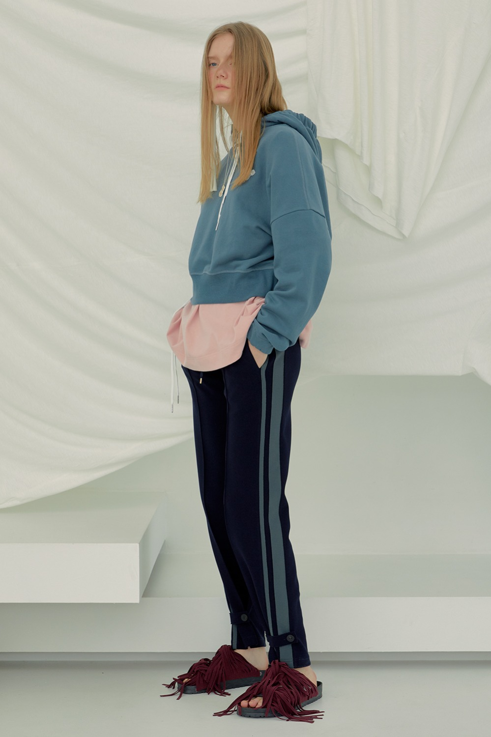 Strapped Track Pants_Navy