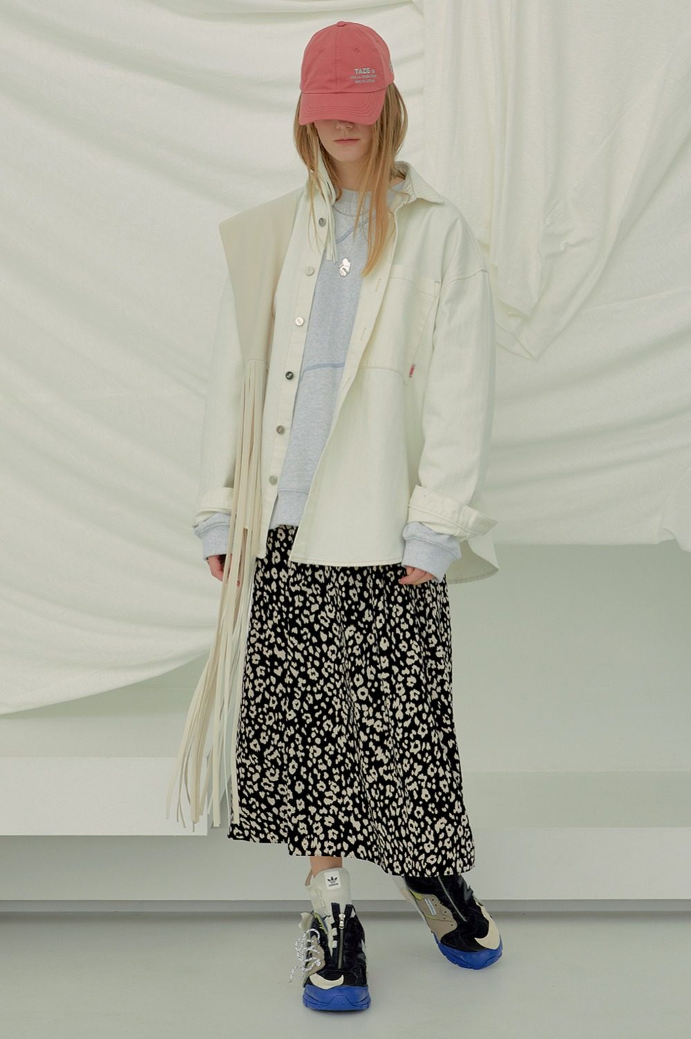[Exclusive] Relaxed Leopard Skirt_Ivory Leopard