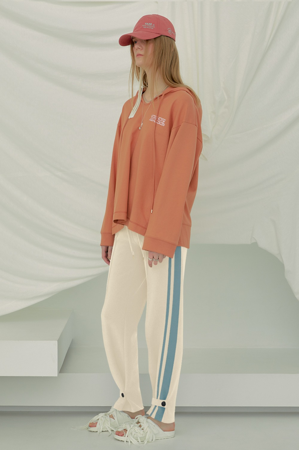 Strapped Track Pants_Ivory