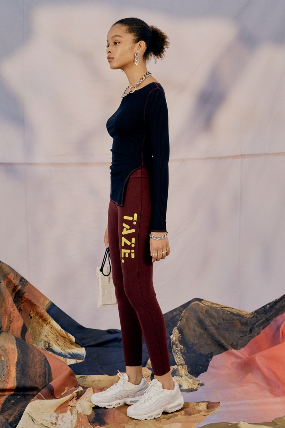 Koi Leggings Pants_Burgundy