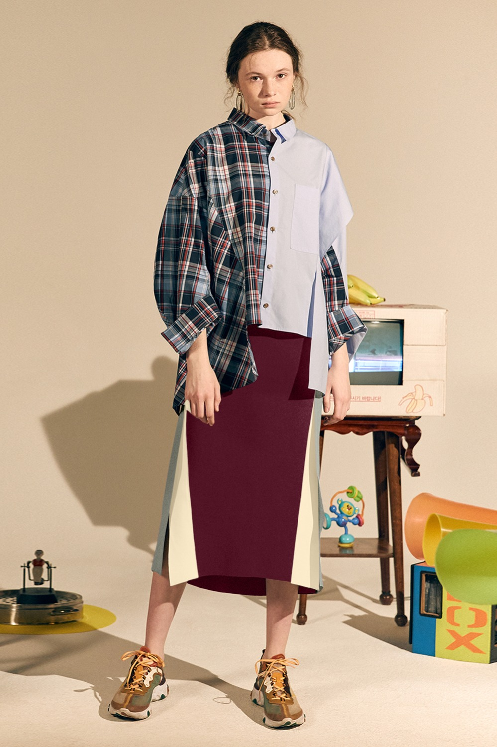 New Lender Skirt_Burgundy (1차 리오더)