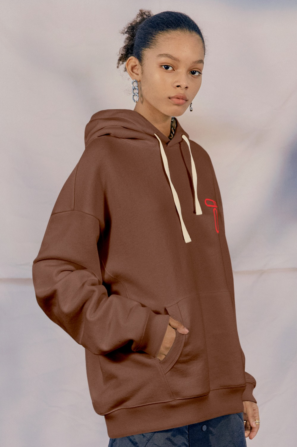 Tetty Oversized Hoodie_Brown
