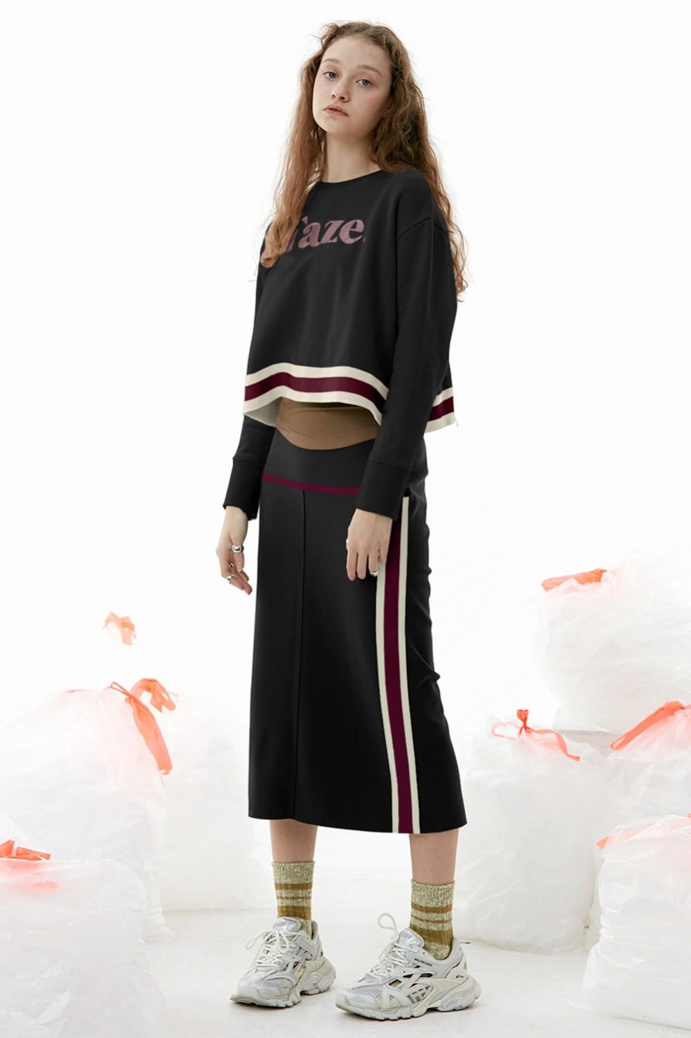 Marlin Track Skirt_Black