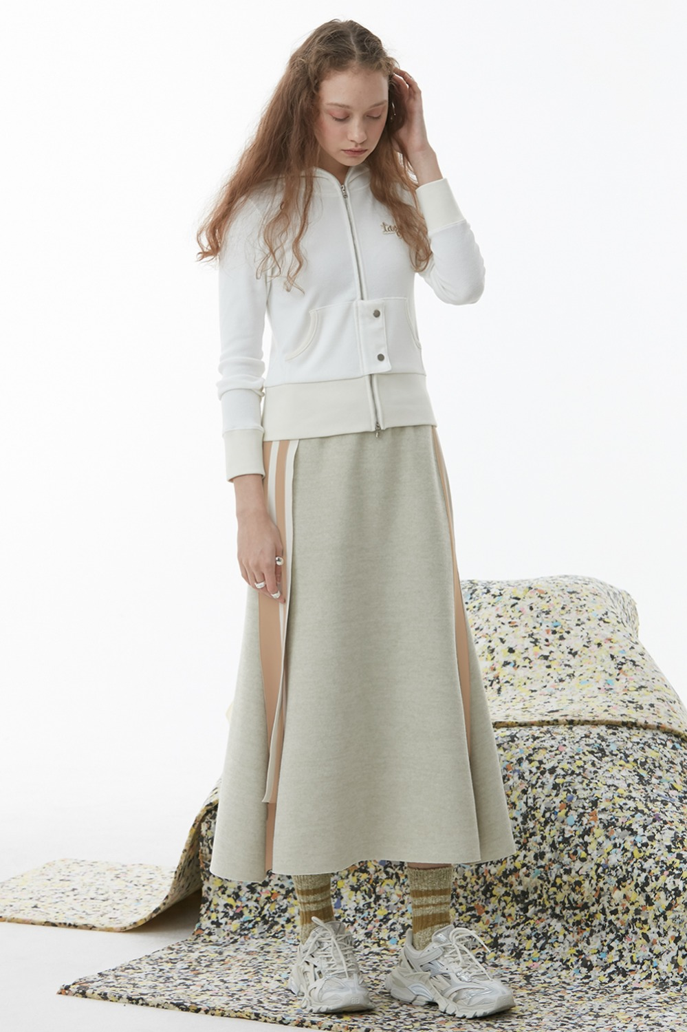 Loda Belt Skirt_Mint Beige